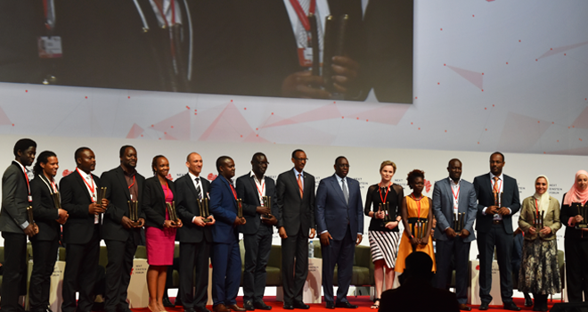 H.E. President Macky Sall & H.E. President Paul Kagame with NEF Fellows