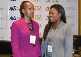 Evelyn Gitau (Program Director, African Academy of Sciences) and Lade Araba (Co-Founder and President, the Visiola Foundation)