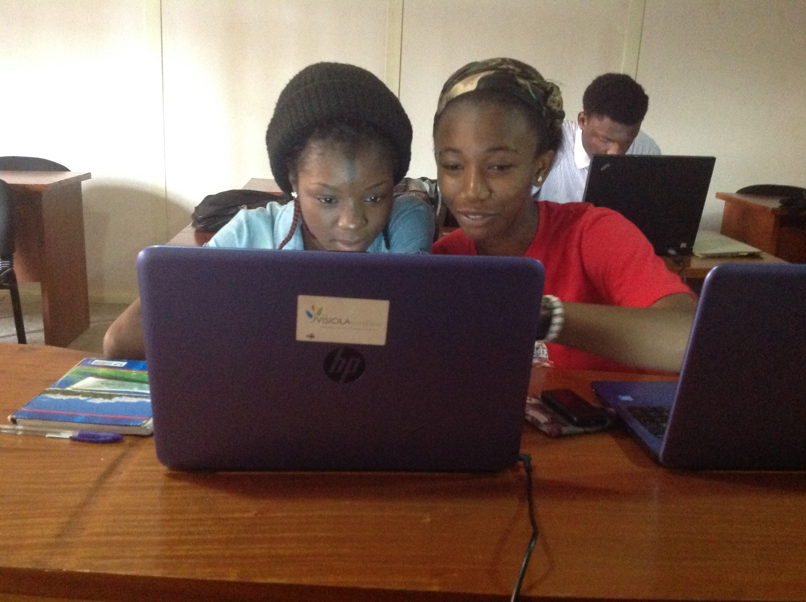Mavis and Ukamaka at Quanteq