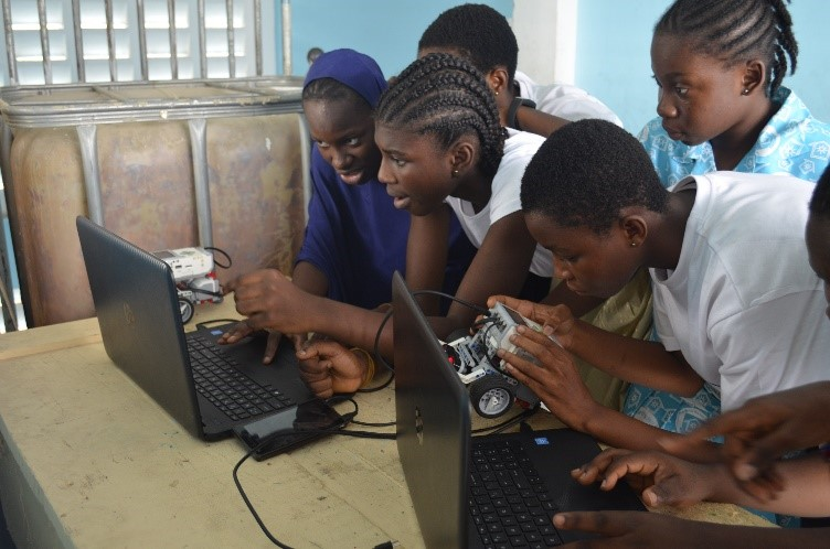 Participants at the Ghana STEM Camp