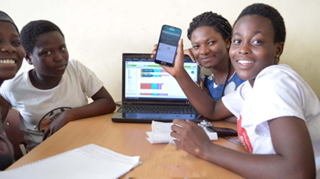 Students at Accra STEM camp