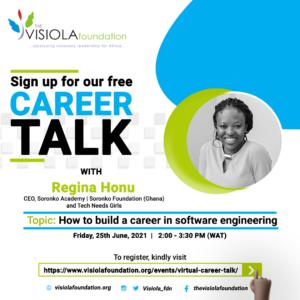 Career Talk with Regina Honu