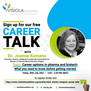 Career Talk with Dr. Joanne Kamens