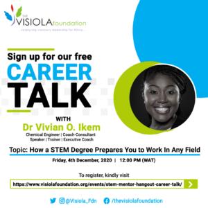 Webinar series- Dr. Vivian Nkem 4th December