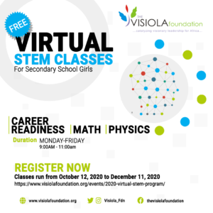 2020 Virtual STEM Classes from October 11 - December 12