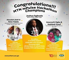 Amarachi (18) and Habibah (16) win big with their Mobile App