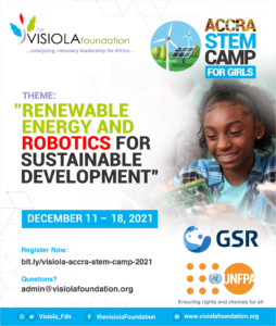 Accra STEM Camp for Girls - Renewable Energy and Robotics for Sustainable Development